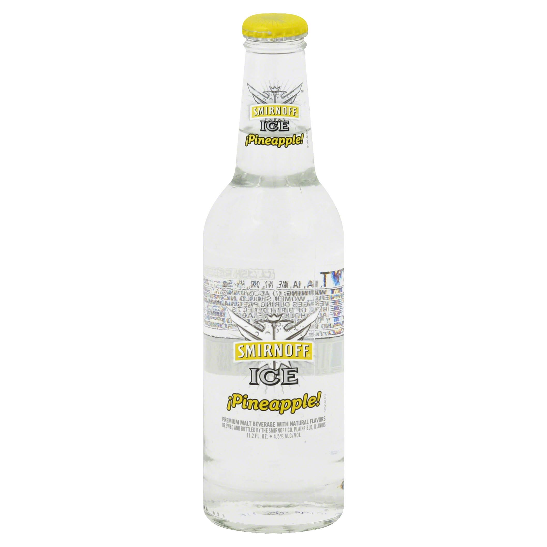 Smirnoff Ice Malt Beverage, Premium, Pineapple - 11.2 fl oz