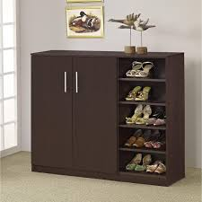 Baxton Shoe Storage Cabinet by Shoe Cabinet Shoe Racks For Closet Tall Shoe Cabinet Wood Shoe