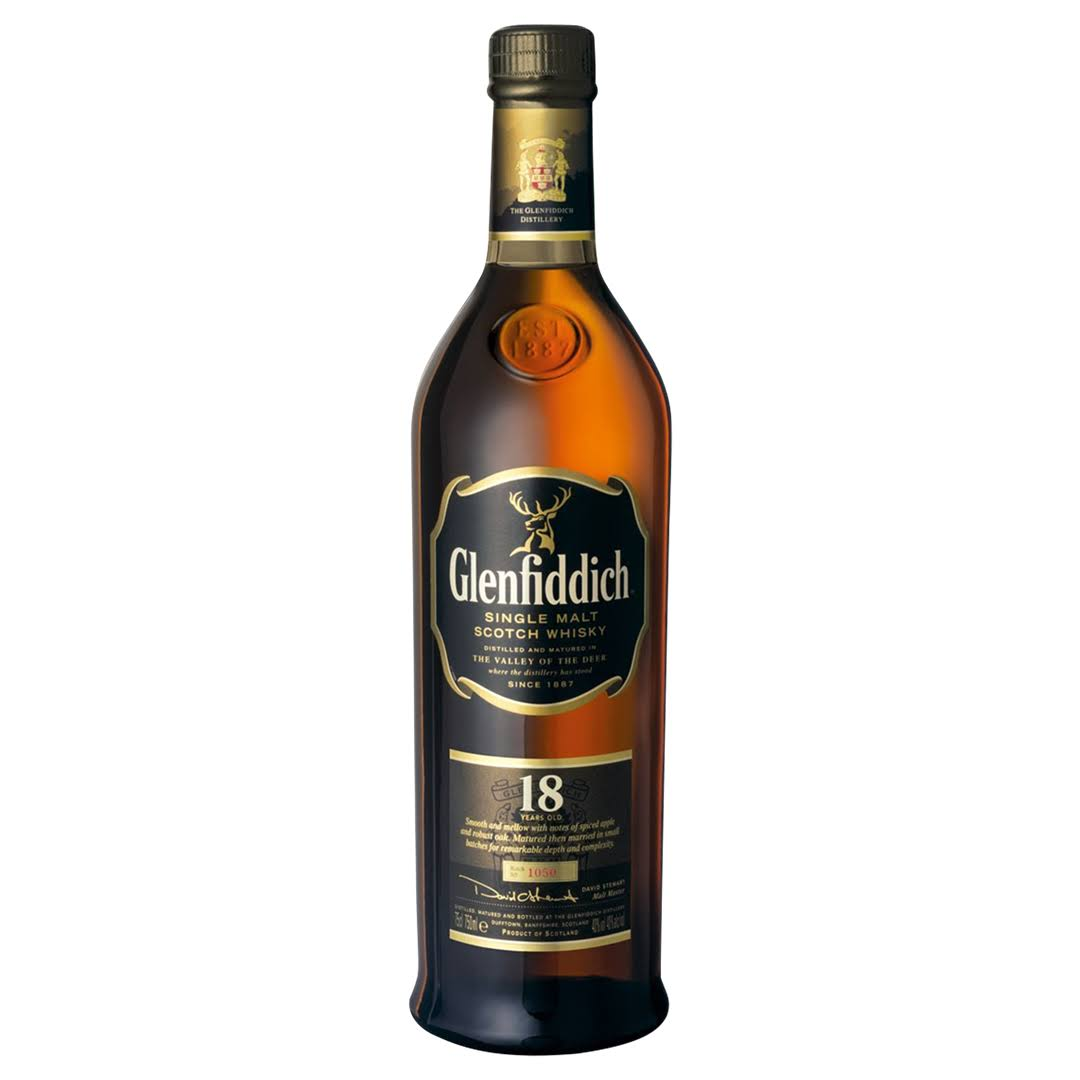 Glenfiddich 18 Year Old Single Malt Scotch Whisky - 700ml