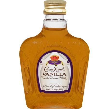 Crown Royal Whisky, Vanilla Flavored - 50 ml