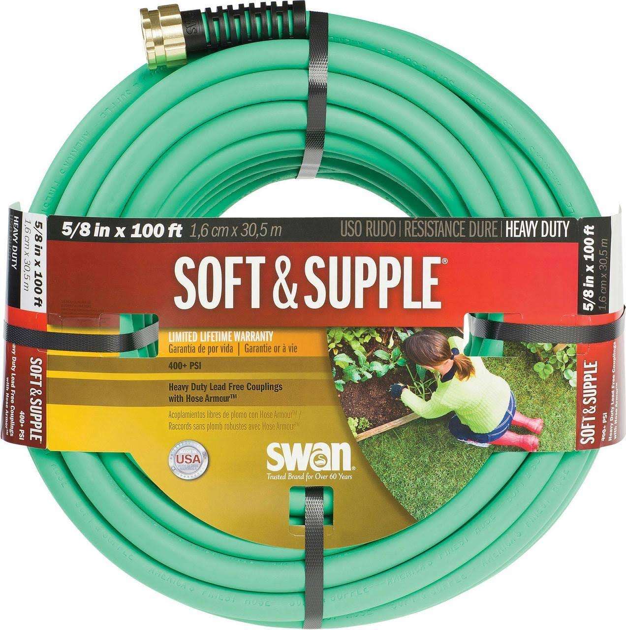 Swan Soft & Supple Premium Hose - Green, 100ft, 5.8in