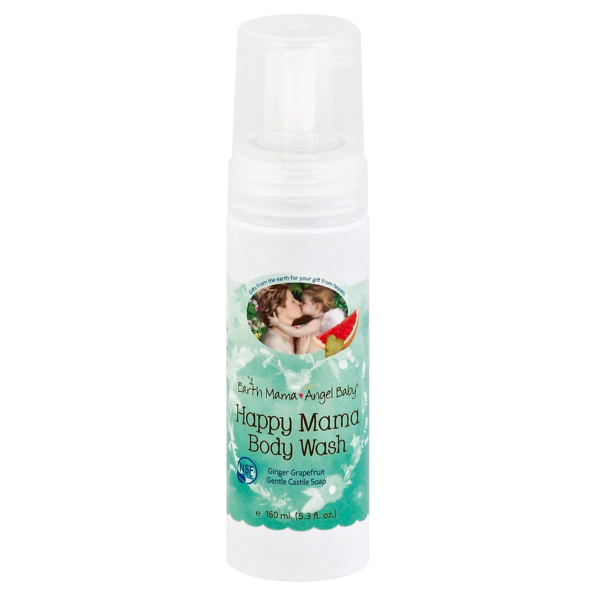 Earth Mama Angel Baby Happy Mama Body Wash - Ginger/Grapefruit, 5.3oz