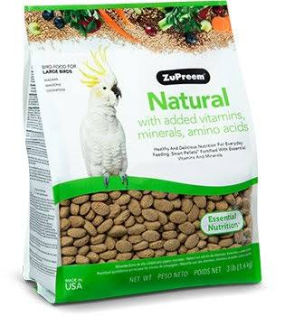 Zupreem 230358 Natural Large Bird Food - 20lbs