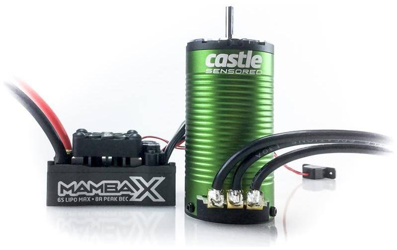 Castle Creations Mamba X WP ESC and 1415-2400kV Sensored Motor