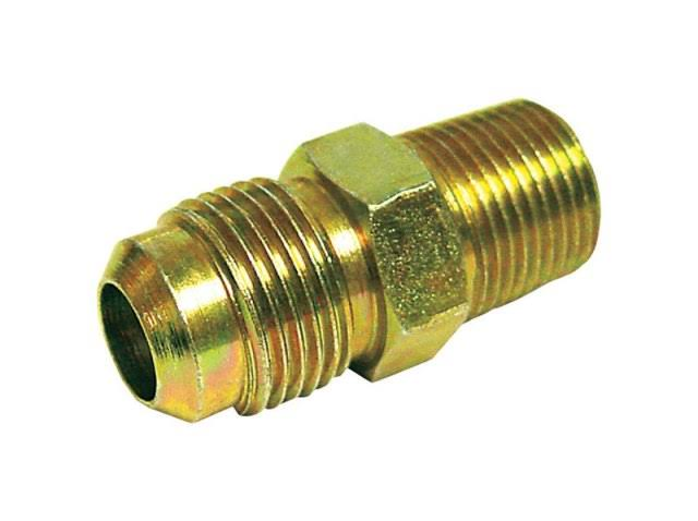 "JMF 4317467 Male Connector Lead - Yellow Brass, 3/8"" x 1/8"""