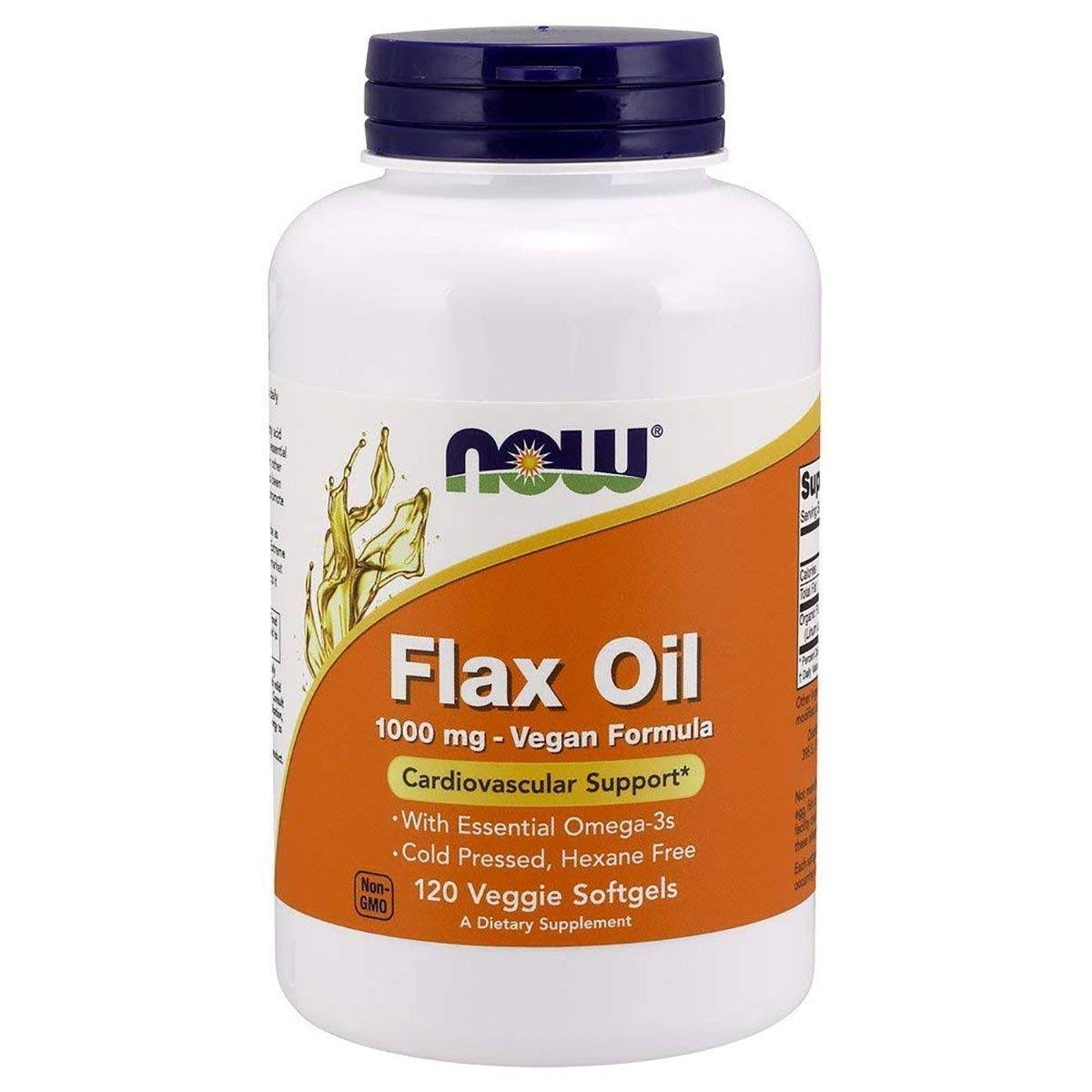 Now Foods Flax Oil Dietary Supplement - 120ct