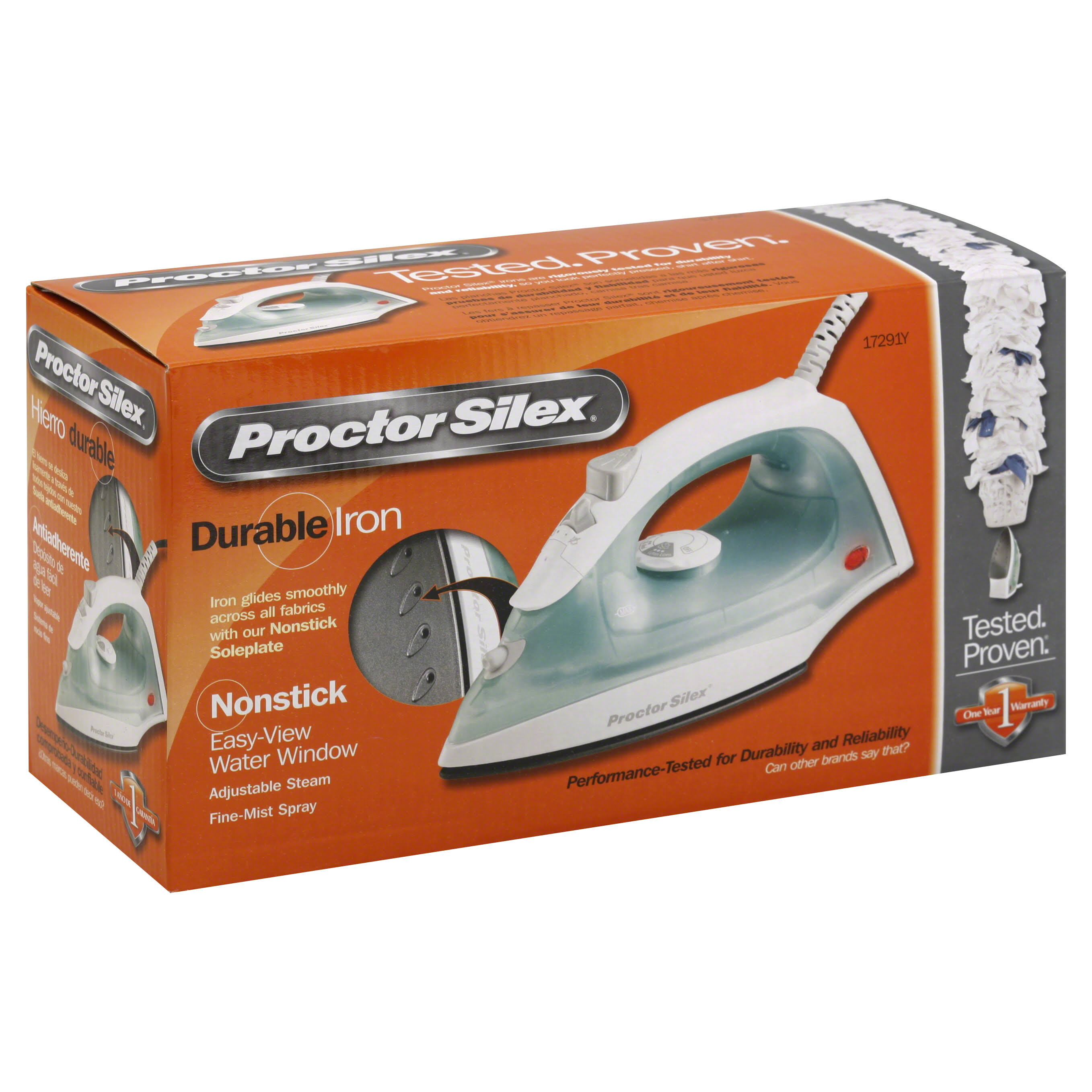 Proctor Silex Non-Stick Steam Iron - 1200W