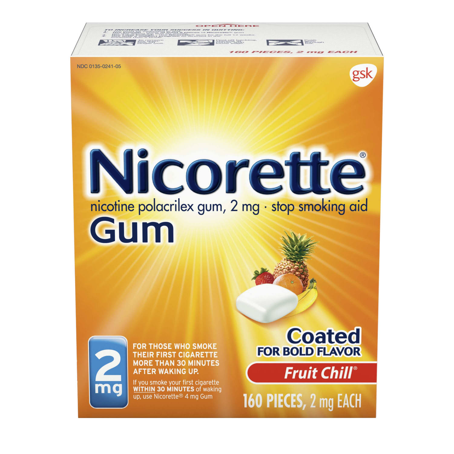 Gsk Nicorette Fruit Chill Gum - 160ct