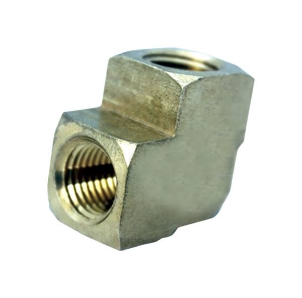 "JMF 4505475 90 Degree Pipe Elbow Lead - Brass, 1/2"" X 3/8"""