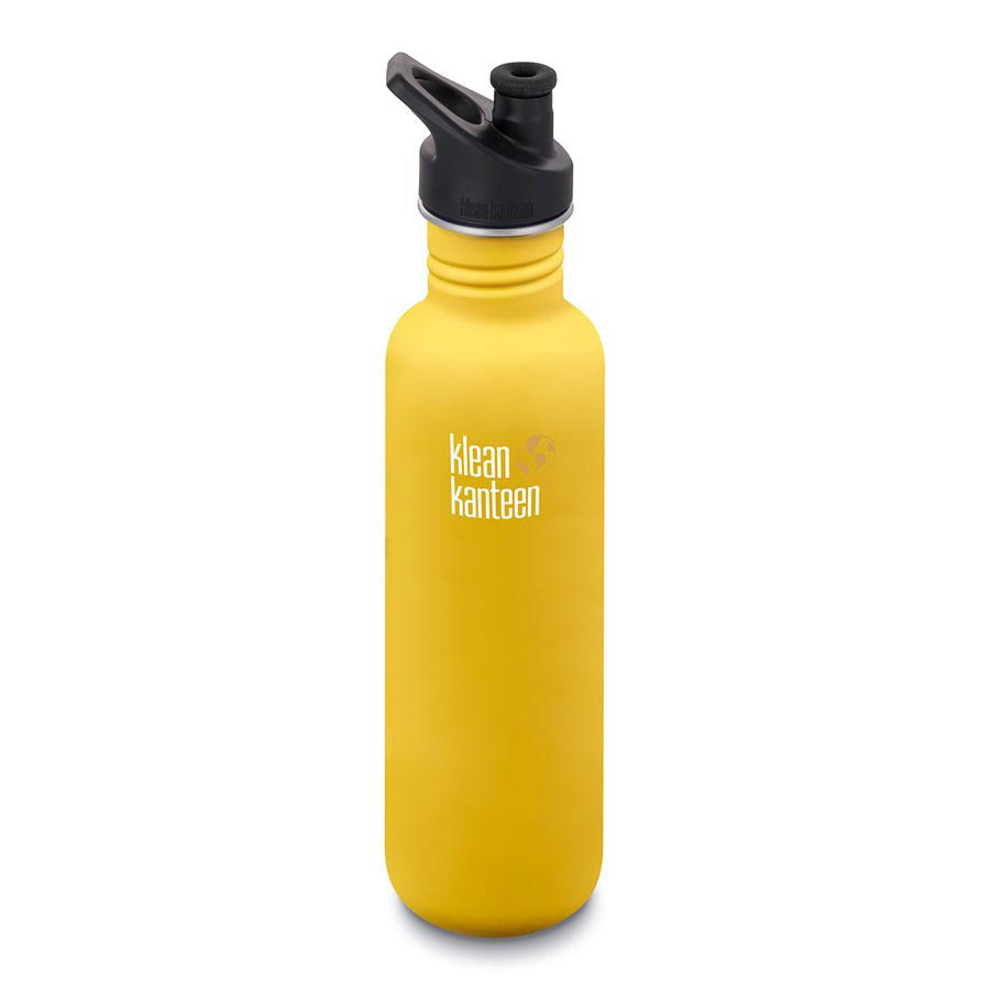 Klean Kanteen Classic Sport Bottle - Lemon Curry, 27 Oz