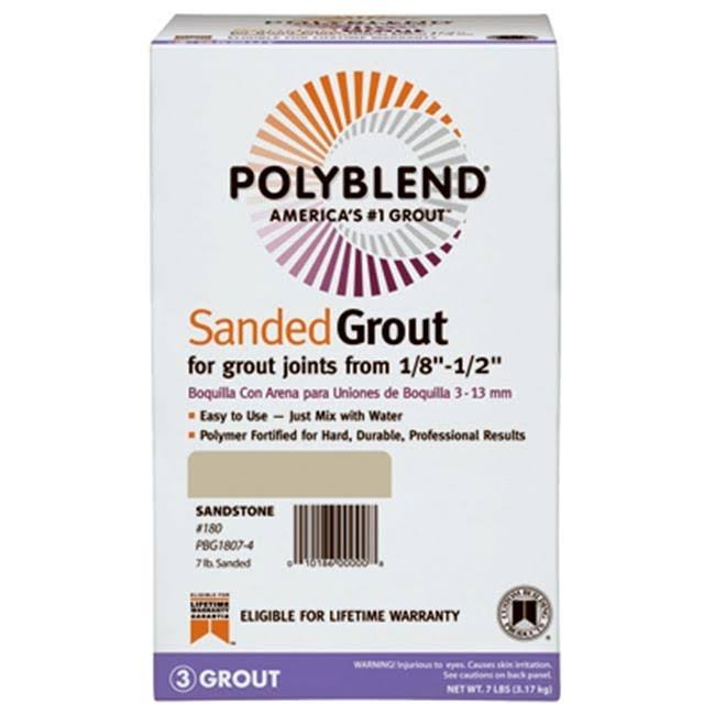 Custom Building Products Polyblend Sanded Tile Grout - 7lb