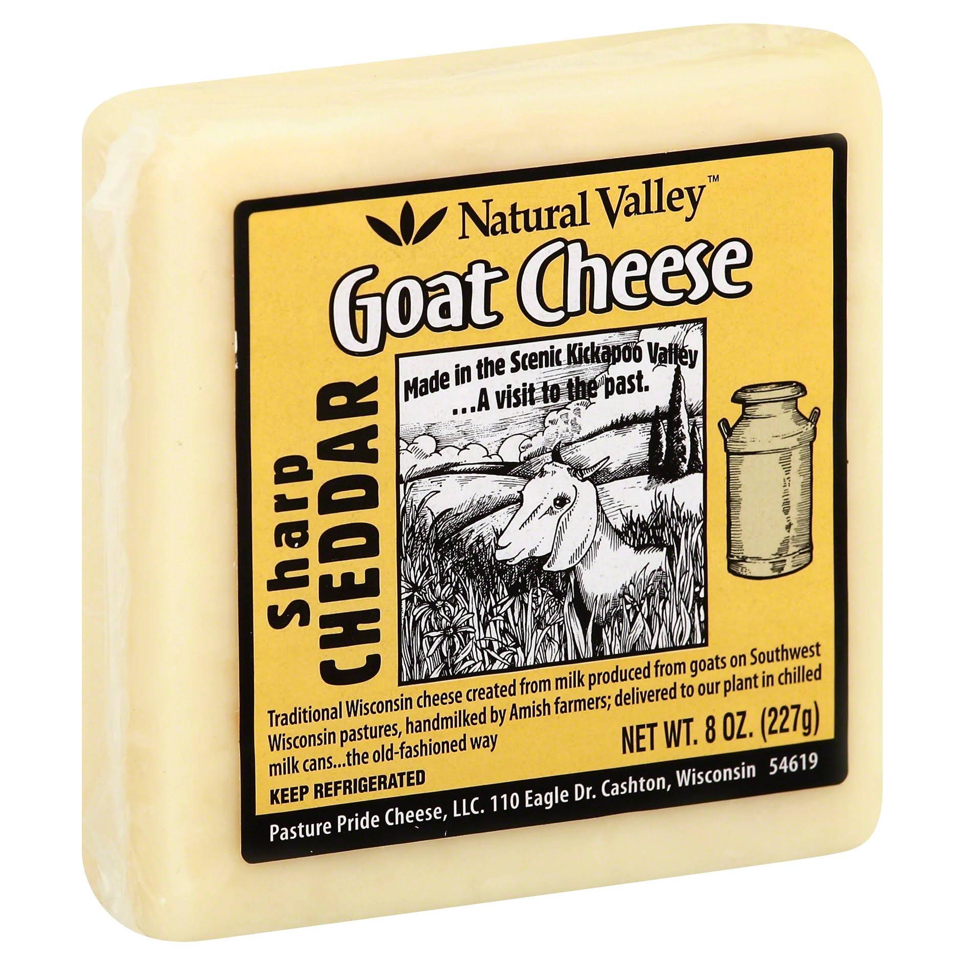 Natural Valley Goat Cheese Sharp Cheddar