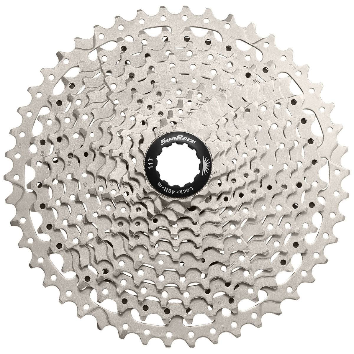 Sunrace Bicycle Cassette - Silver, 11-40T, 11 Speed