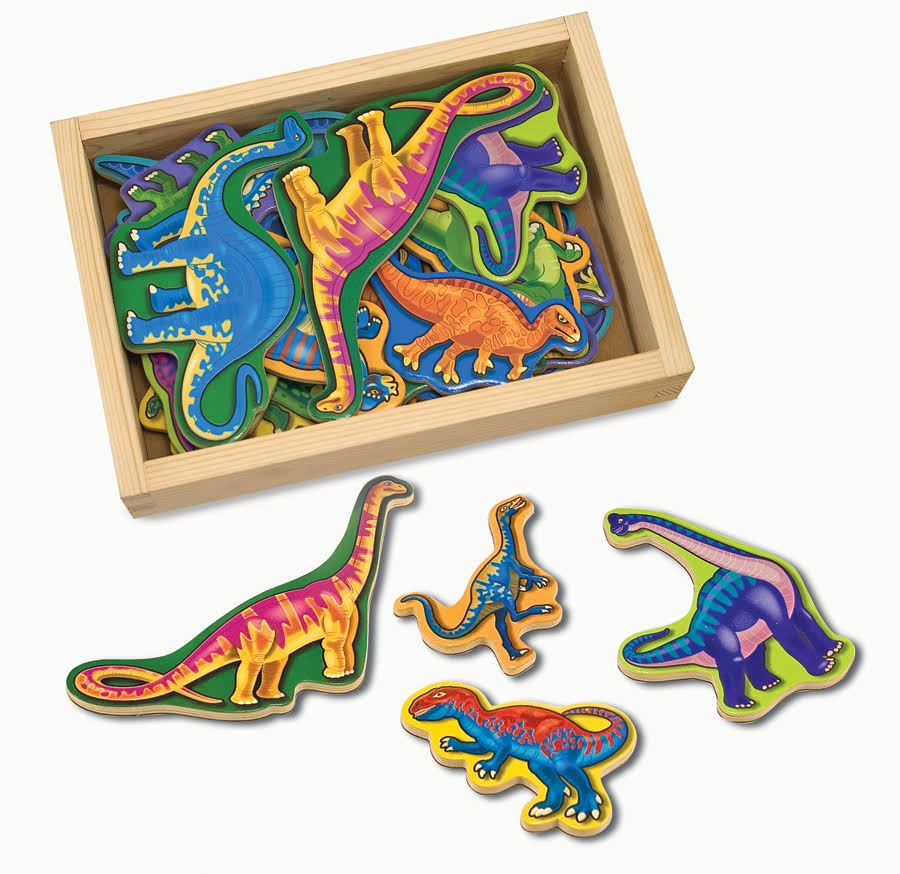 Melissa & Doug Wooden Dinosaur Magnets - 20 Pack