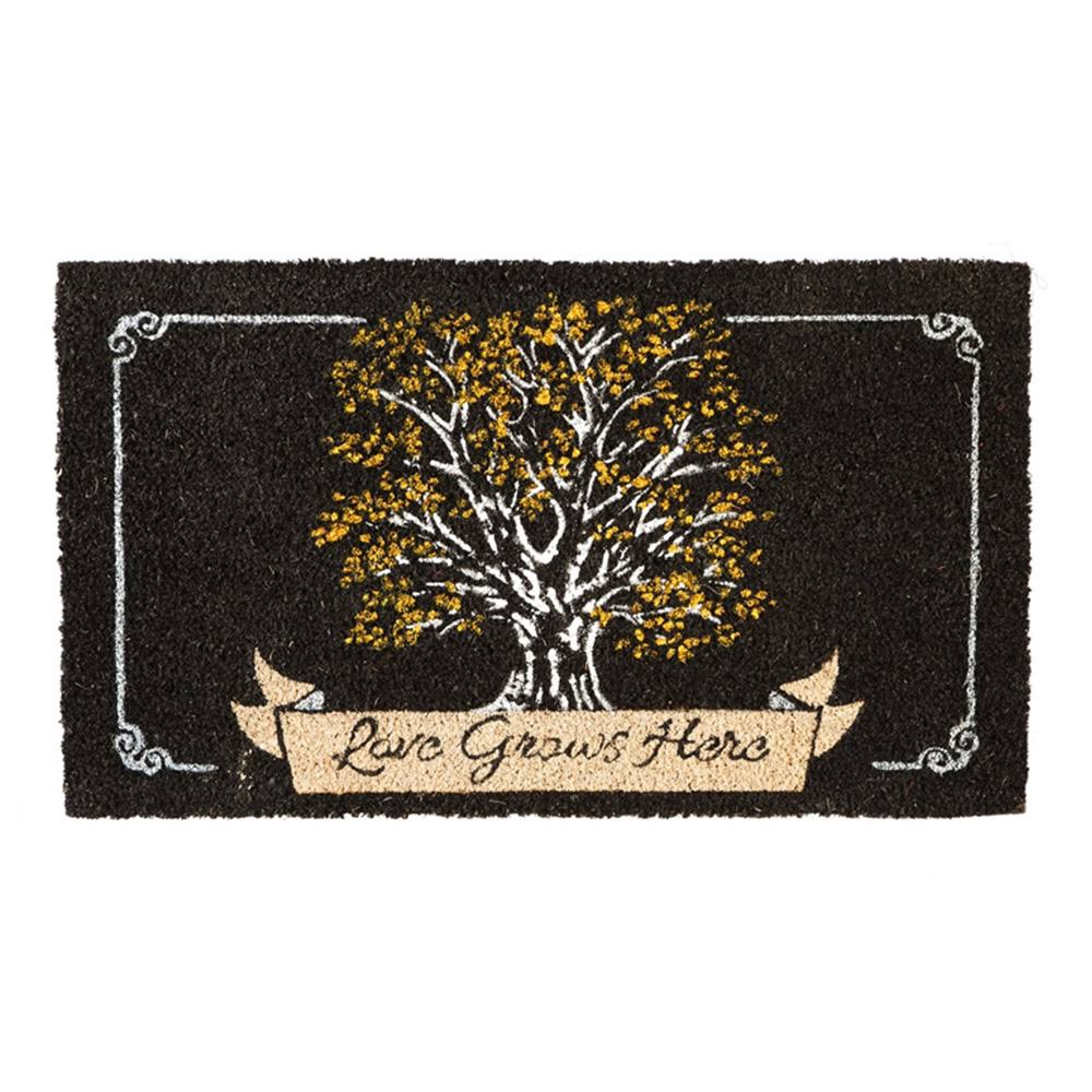 Evergreen Flag Love Grows Here Coir Mat