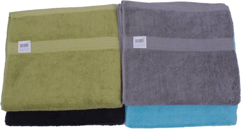 DD Dyed Bath Towels - Assorted Sizes & Colors - Case of 24
