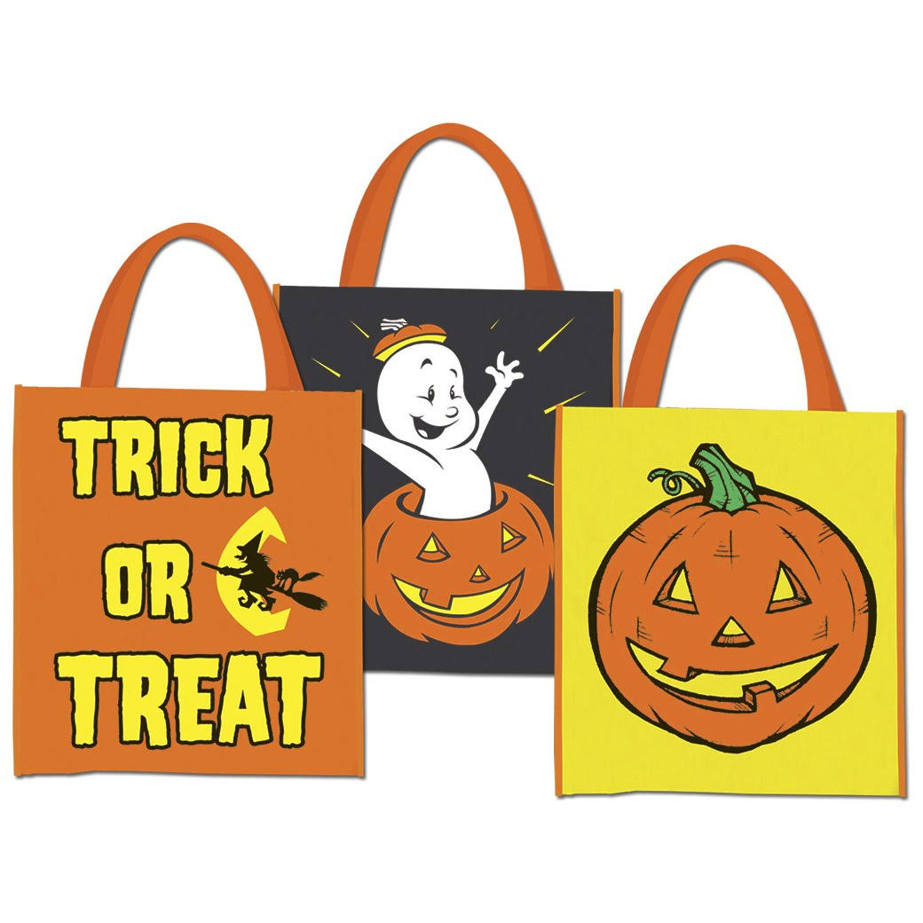 Beistle Halloween Treat Bags - 12in x 14in, 12-Pack