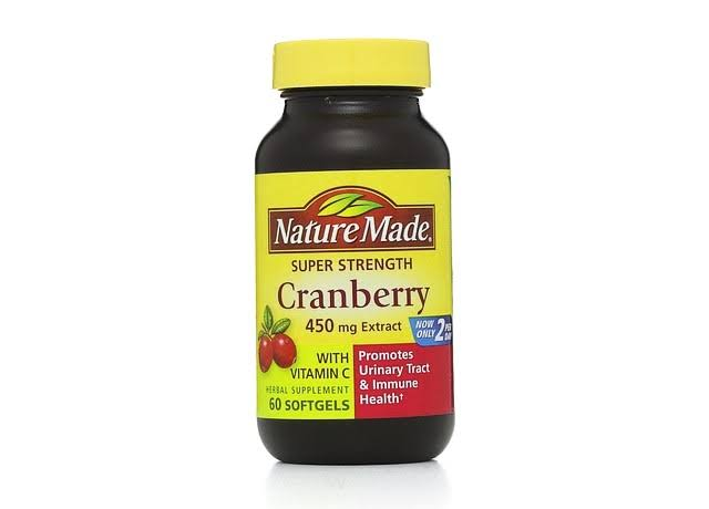 Nature Made Super Strength Cranberry Extract Supplement - 450mg, 60 Softgels