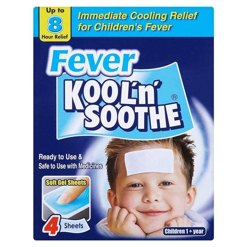 Kool'n'Soothe for Children 1+ Year - 4 Soft Gel Sheets