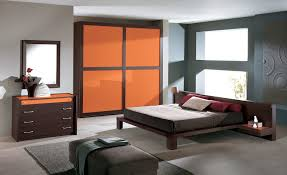 Masculine Bedroom Colors by Bedroom With Orange Accent Wall Design Ideas Paint Colors Cute