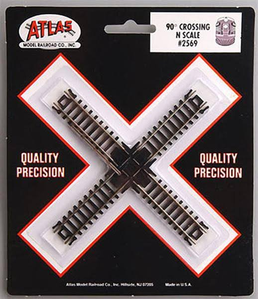 Atlas 90 Degree 80 N Scale Crossing Track