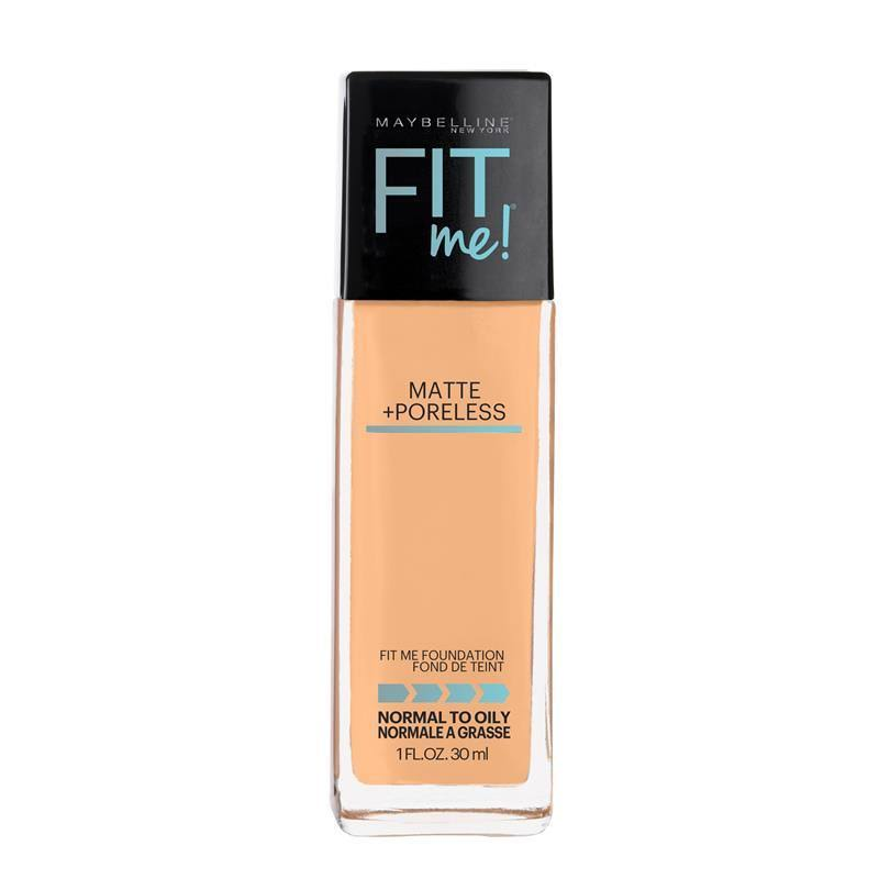 Maybelline New York FIT Me Foundation - Matte and Poreless, 1oz