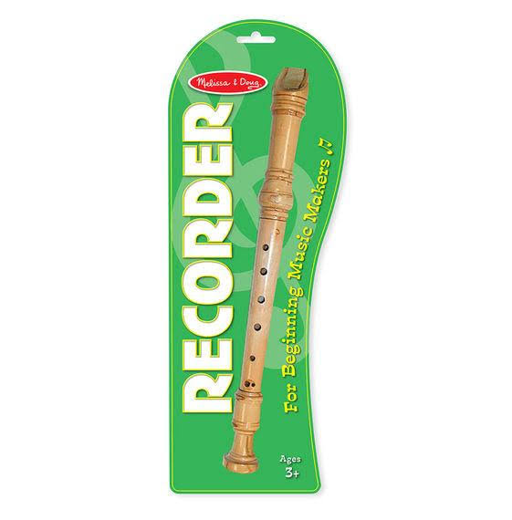 Melissa & Doug Makin' Music Wooden Recorder Instrument