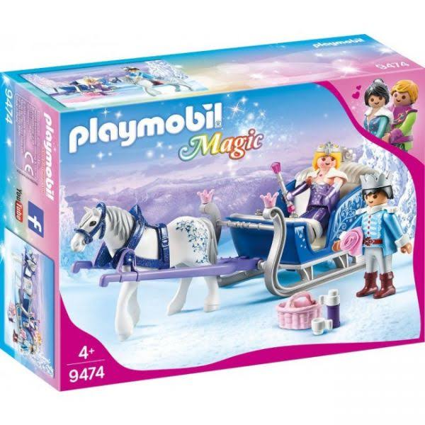 Playmobil Sleigh with Royal Couple Building Kit - 28pcs