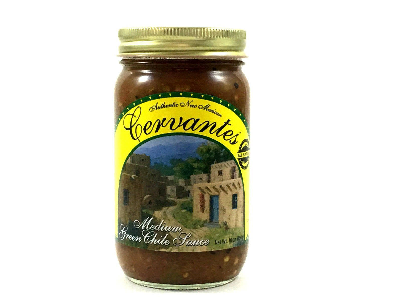 Cervantes Green Chile Sauce Medium - 16 Oz