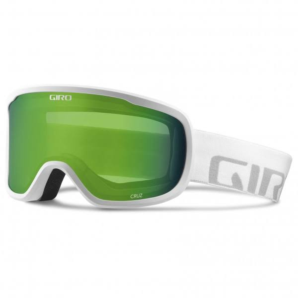 Giro Cruz Ski Goggles - White Wordmark Loden Green