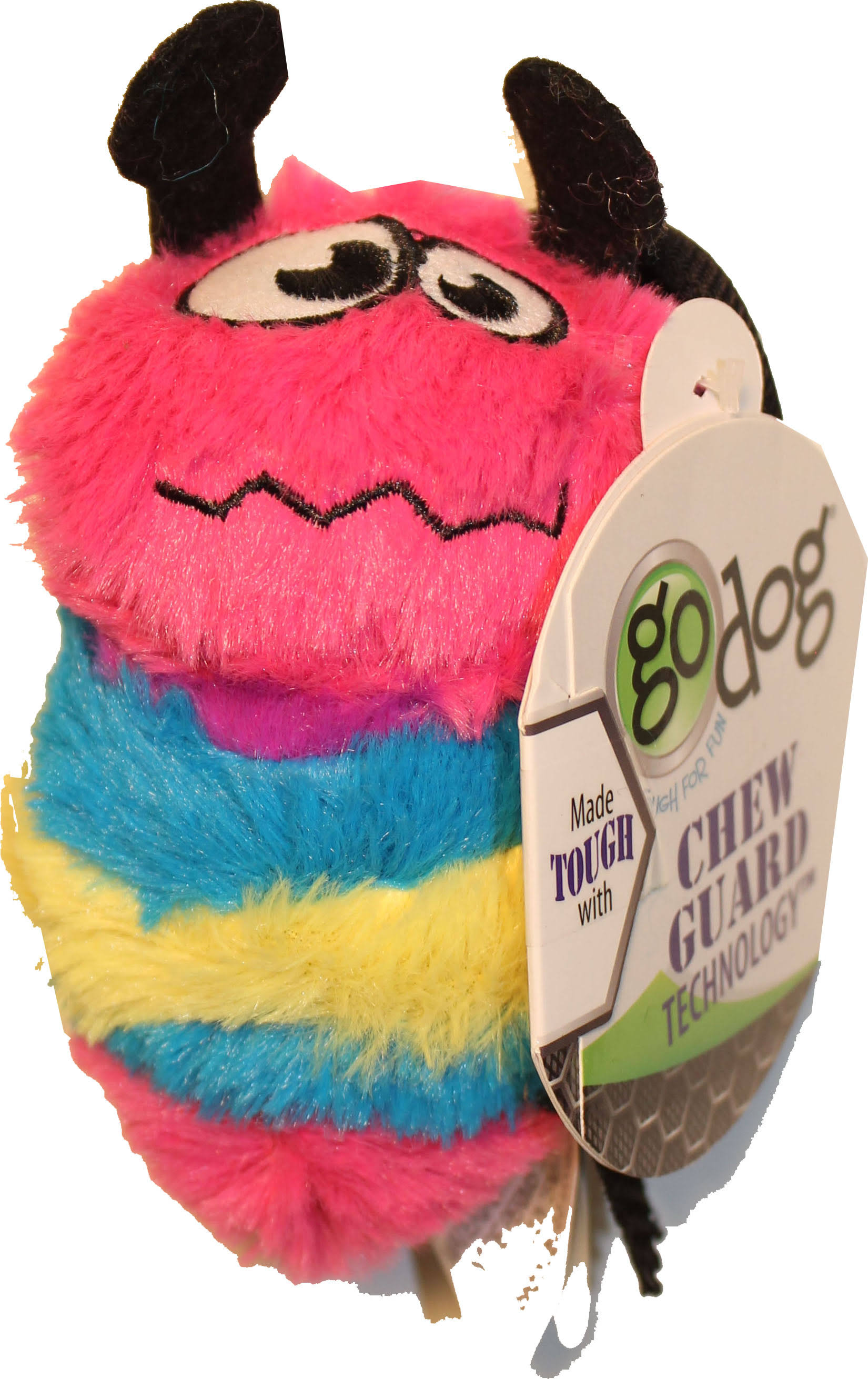 Godog Bee with Chew Guard Small / Rainbow