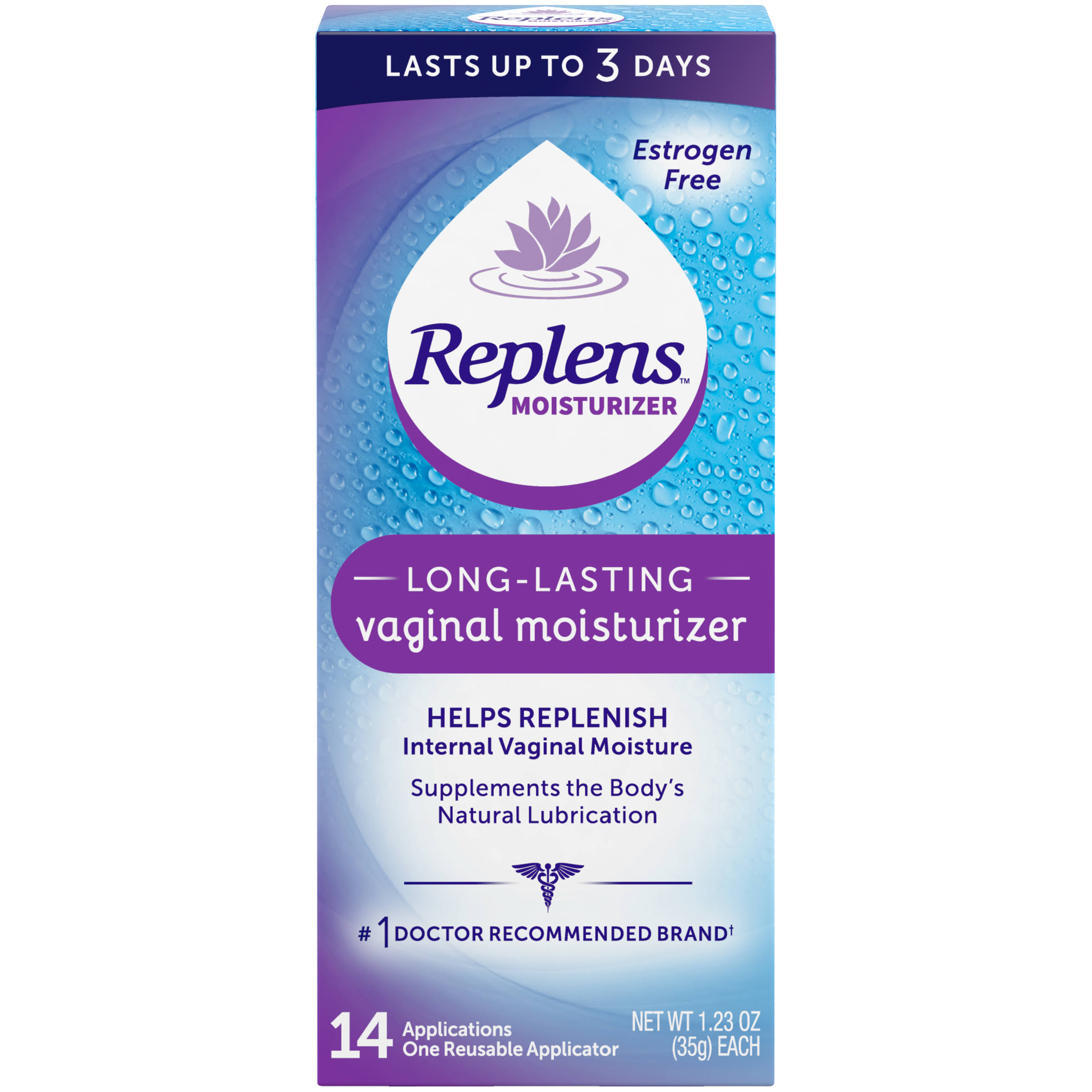 Replens Long Lasting Vaginal Moisturizer - 14 Applications, 35g