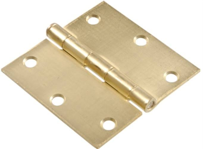 Residential Door Hinge Square Corner Removable Pin - 3 1/2""