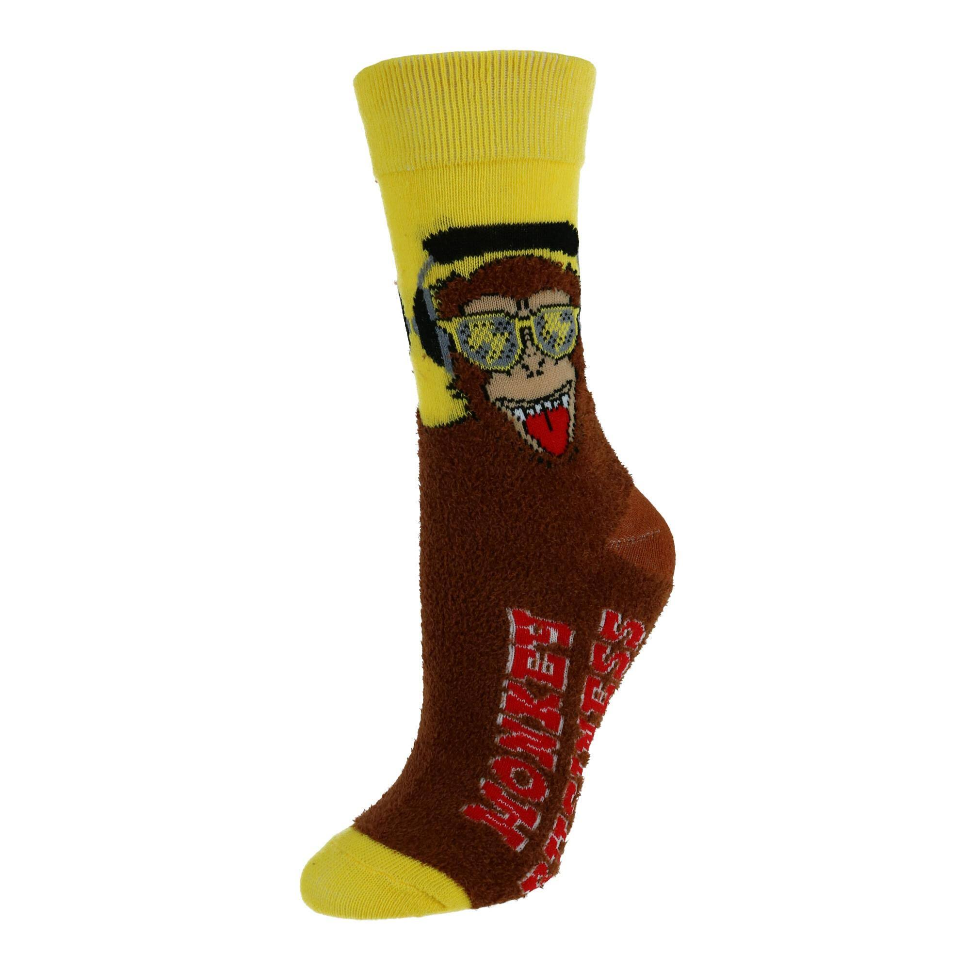Two Left Feet Women's Super Soft Fuzzy Crew Socks - Yellow Small