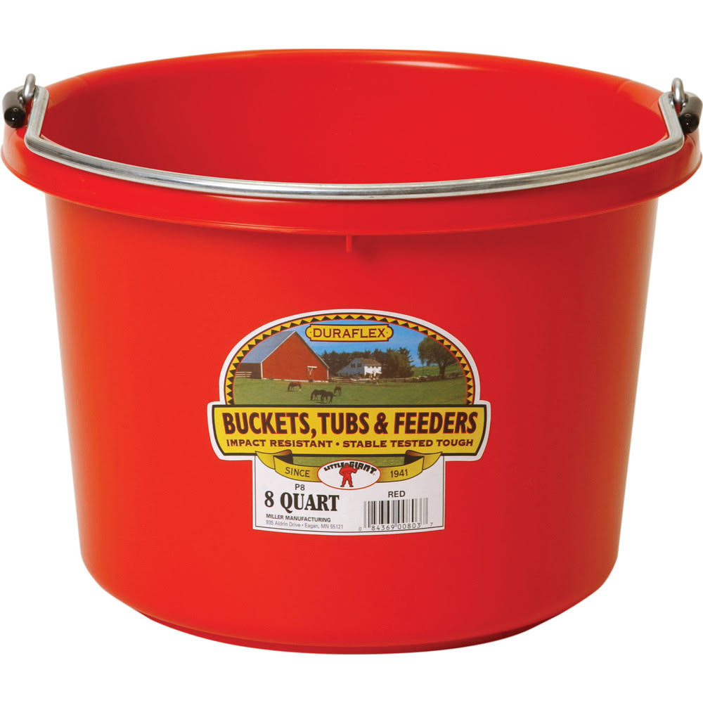 Little Giant 8 qt. Bucket Red