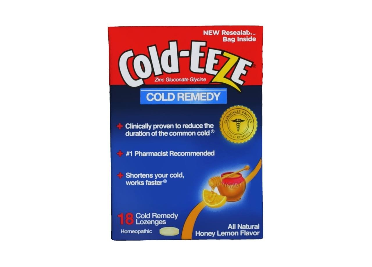 Cold Eeze Cold Remedy Lozenges - Honey Lemon, 18ct