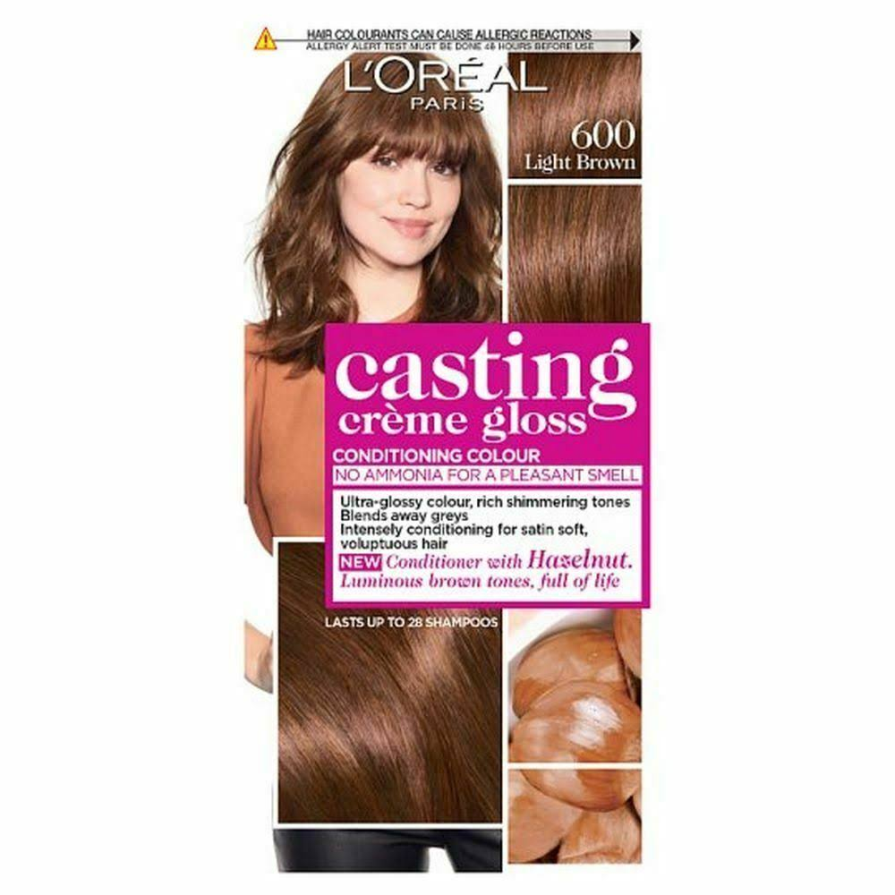L'Oreal Casting Creme Gloss Semi Permanent Hair Dye - 600 Light Brown