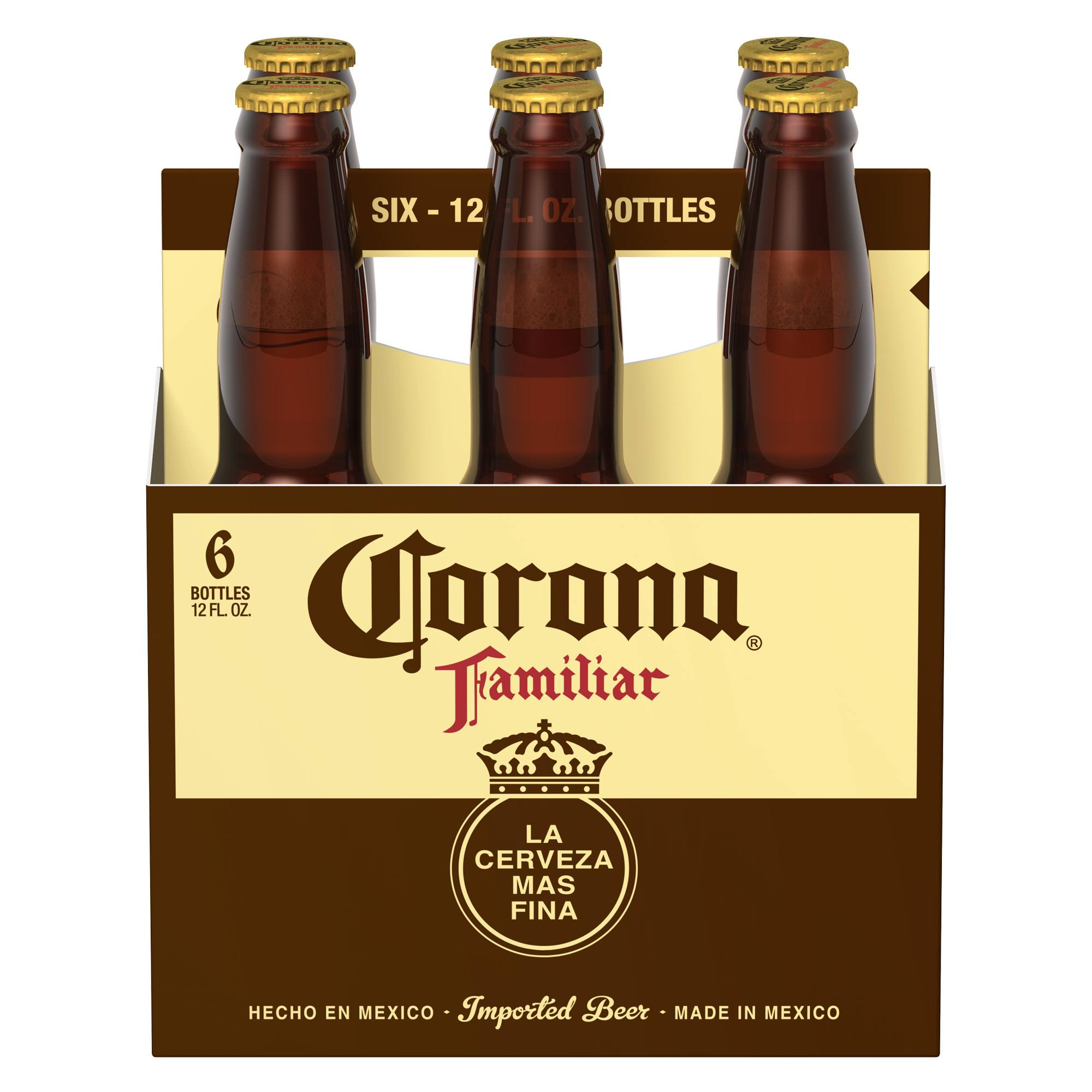 Corona Familiar Premier Beer - 6 Pack, 12oz