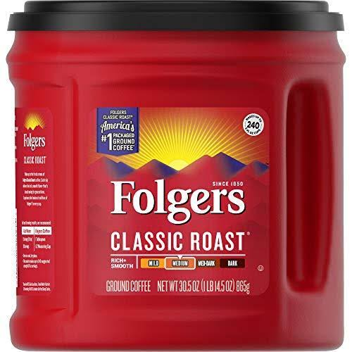 Folgers Classic Roast Ground Coffee - Medium Roast, 30.5oz