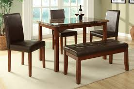 Cheap Dining Room Sets Uk by Brown Leather Dining Table And Chair Set Steal A Sofa Furniture