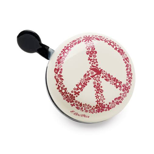 Electra Custom Ding Dong Bicycle Bell - Peace Sign Flowers, Large