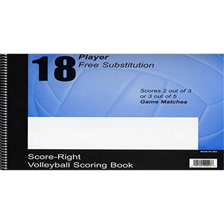 Score Right 1111XXXX Rally Scoring Volleyball Scorebook