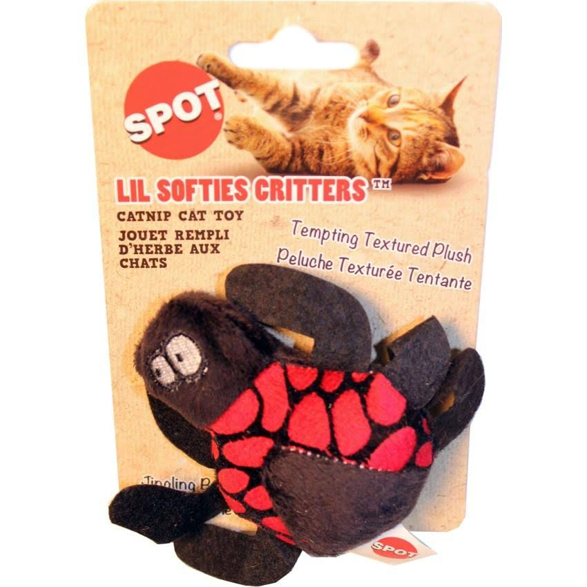 Spot Lil Softies Textured Plush Critters Cat Toy - with Bell and Catnip, Assorted Colors