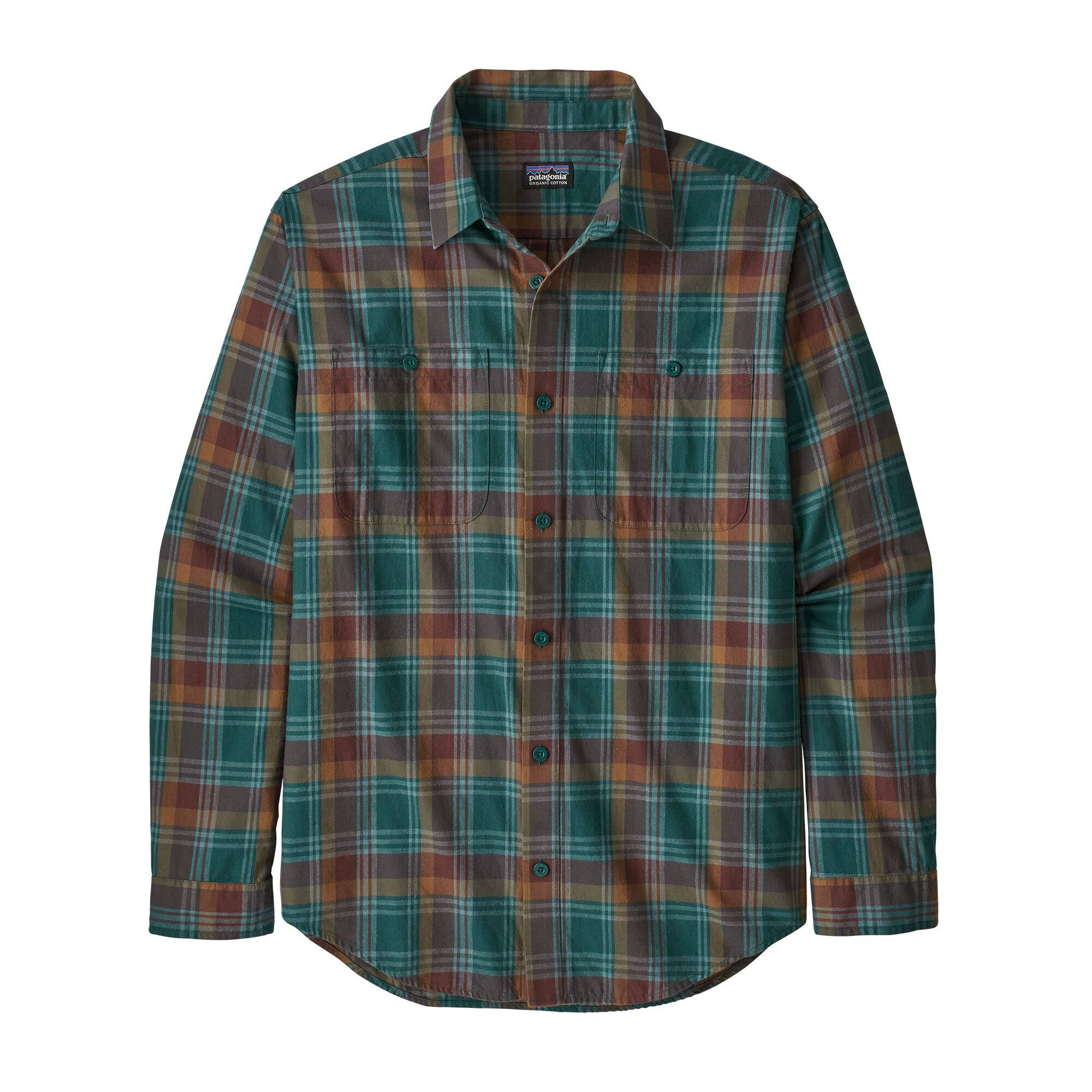 Patagonia Pima Cotton Shirt - Men's Buttes Small/Piki Green, L