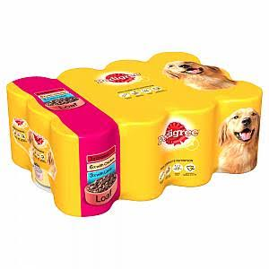Pedigree Adult Dog Wet Food - Mixed Selection in Loaf, 12x400g