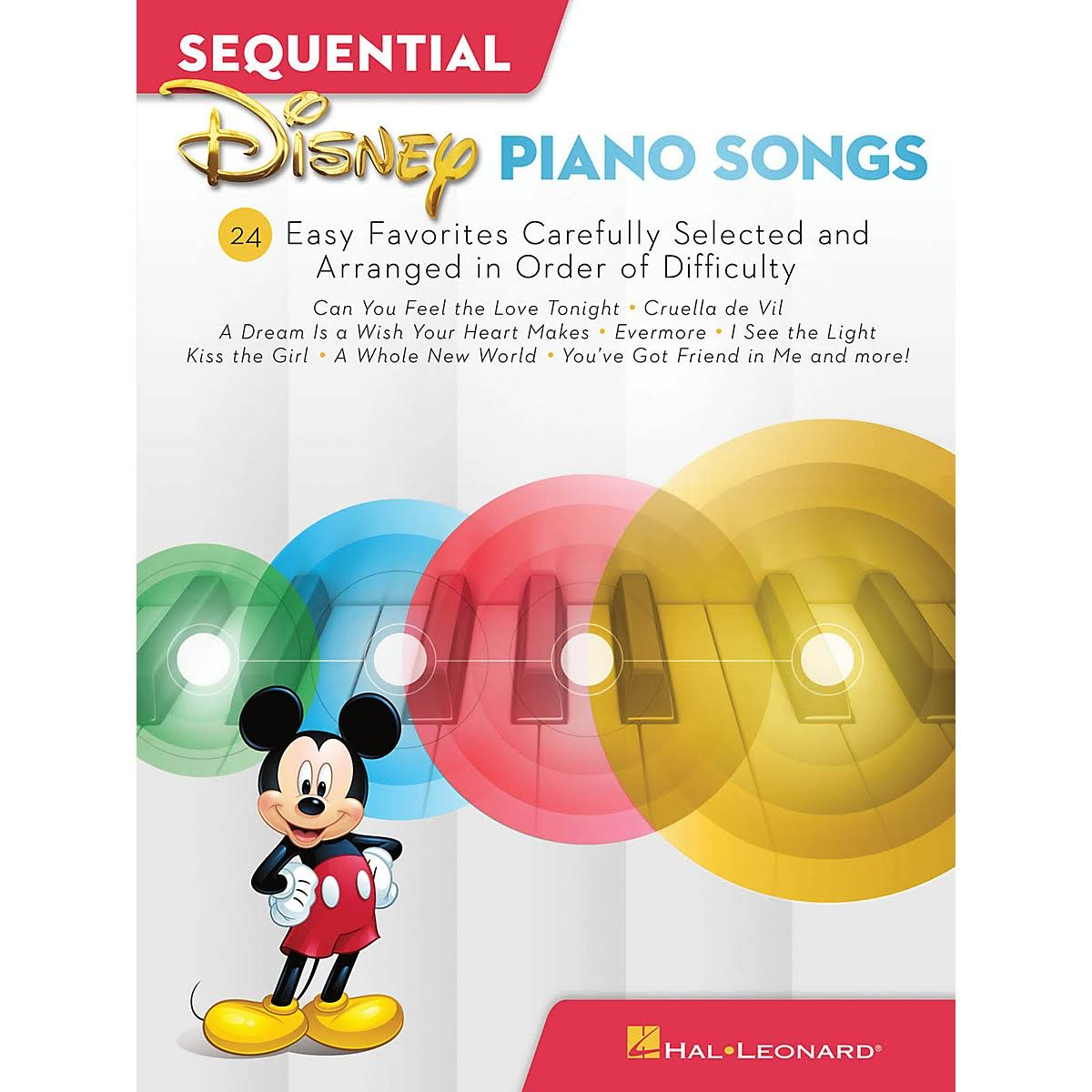 Sequential Disney Piano Songs: 24 Easy Favorites Carefully - Hal Leonard Corp