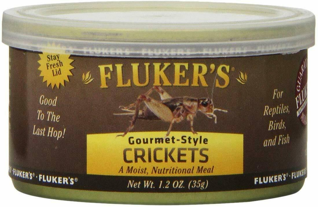 Fluker's Gourmet Style Canned Crickets Reptile Food - 1.2oz, 3pk
