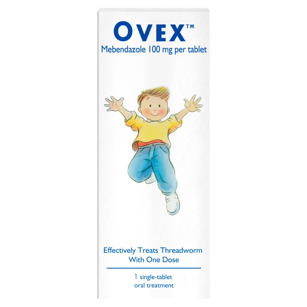 Ovex Treatment For Threadworms - 1 Single-Tablet