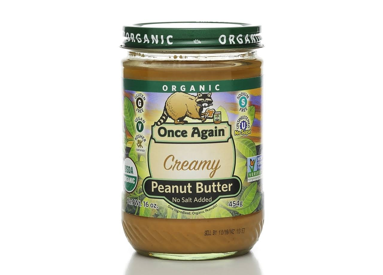 Once Again Organic Peanut Butter - Creamy, No Salt, 16oz