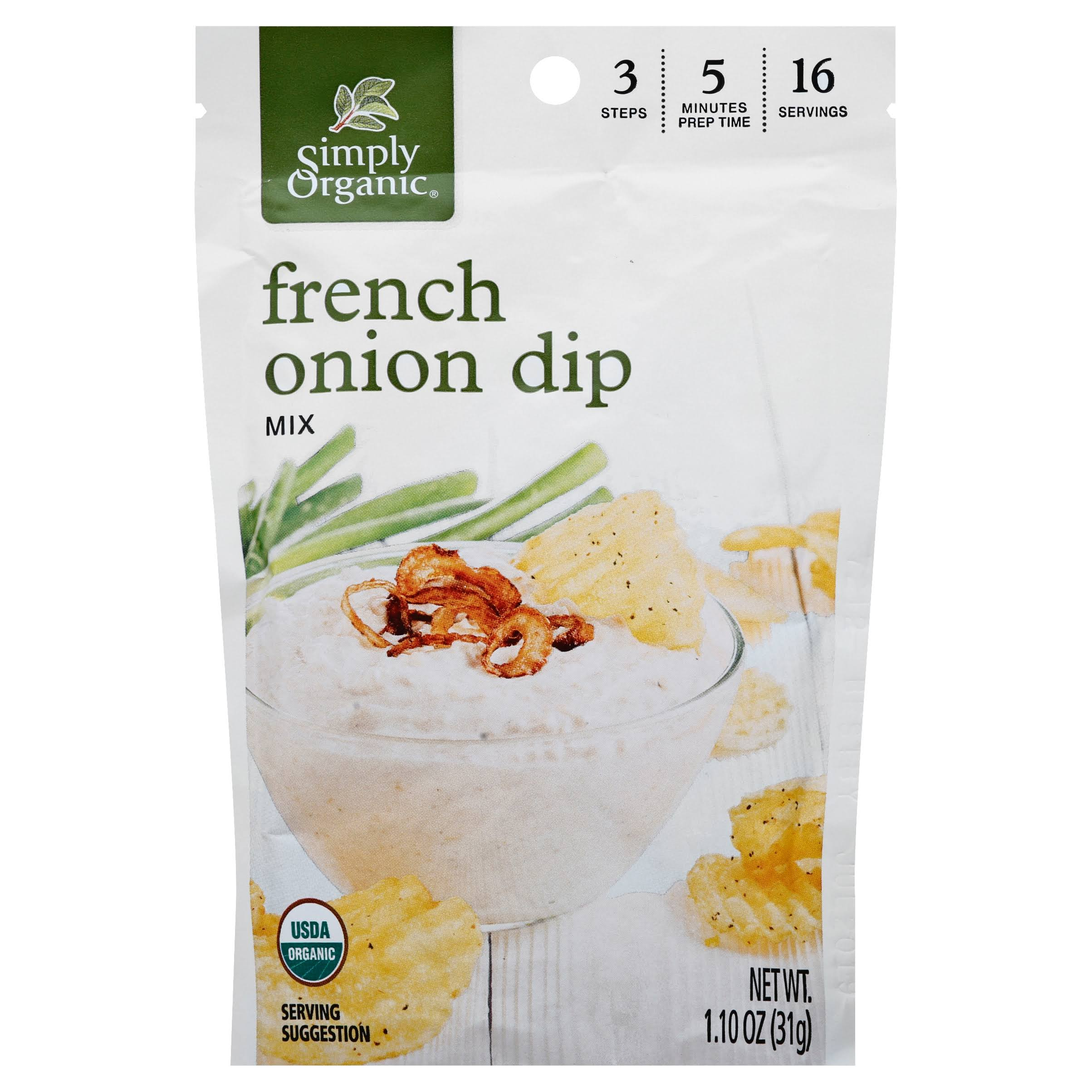 Simply Organic French Onion Dip Mix - 1.1oz